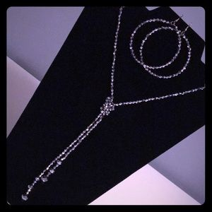 Silver Necklace & Earring Set